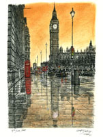 A work of Stephen Wiltshire, who was characterized by the press as a human camera.
