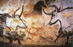 Cave painting from Lascaux. Edges and high spatial frequencies are emphasized.